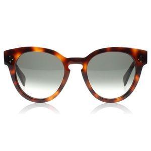 Celine thin preppy Havana sunglasses